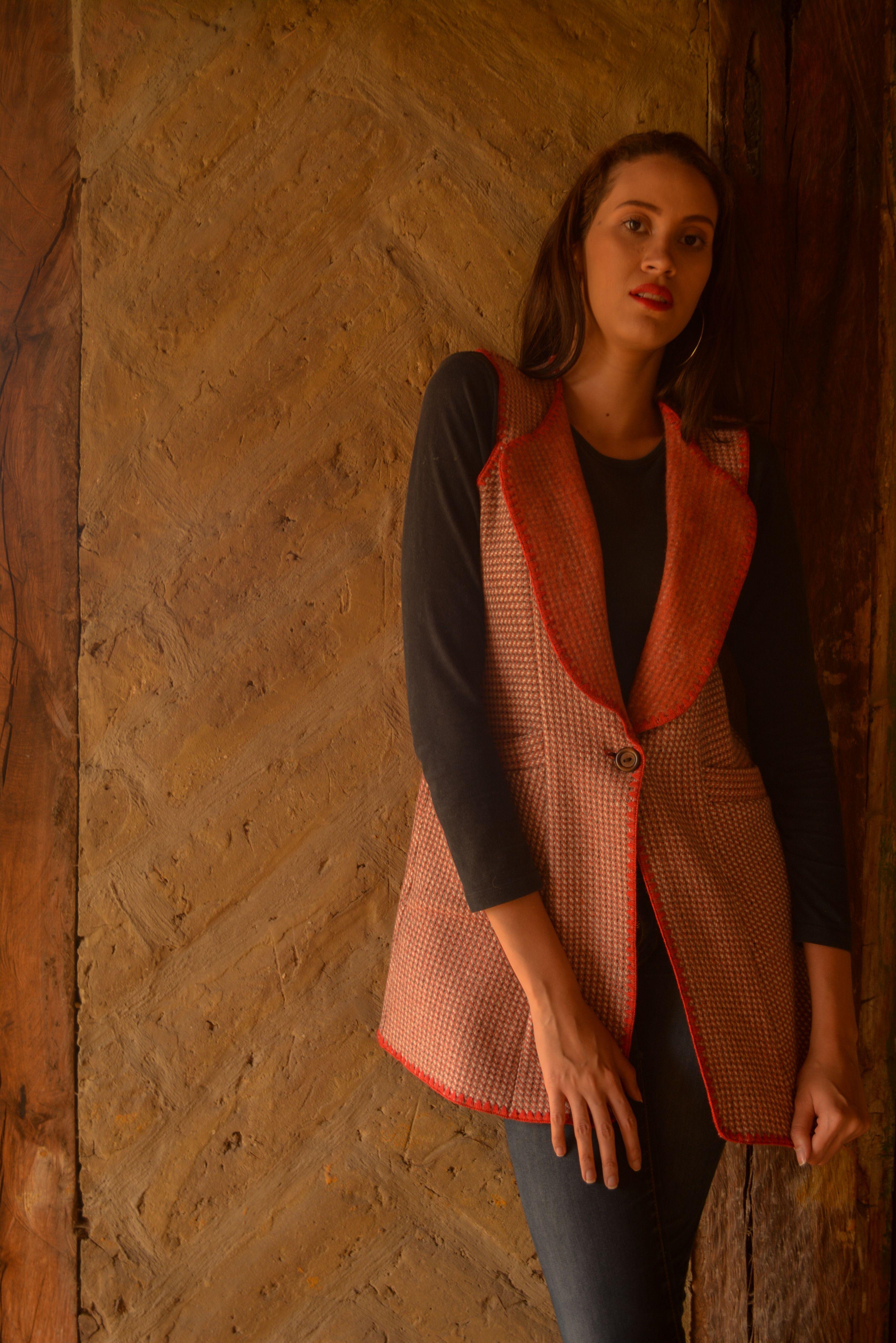 Chaleco en lana rojo